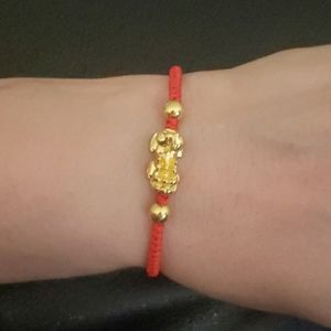 Jewelry - Lucky Feng Shui Piyao Kabbalah Red Bracelet